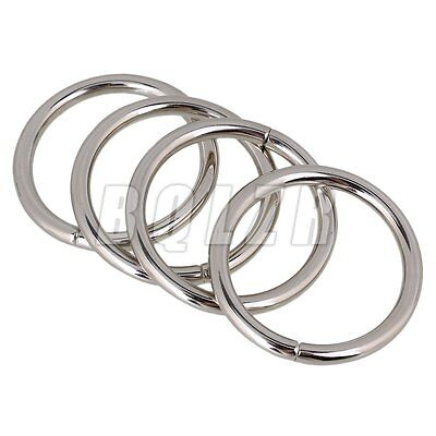 20pcs 1.26 Inches ID Silver Welded Heavy O-Rings Closeout for Packages Durable