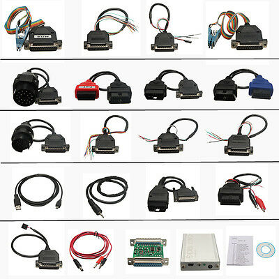 Newest Version Coche CARPROG FULL V7.28 with 21 Items Adapters OBD2 Diagnostic