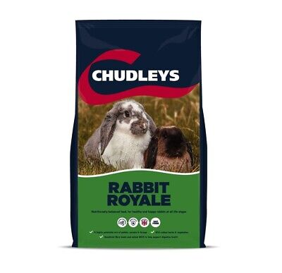 CHUDLEYS RABBIT ROYALE - Tasty Food - Pellets Muesli Grass Forage Herbs Veg 15KG