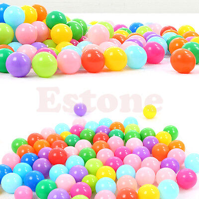 10 - 200pcs Colorful Fun Ball Soft Plastic Ocean Ball Kid Toy Swim Pit Toy NEW