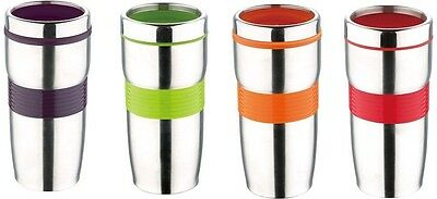 Renberg 450ml Travel Mug Stainless Steel Thermos Flask Mutiple Colours RB-3021