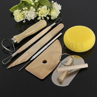 8Pcs Polymer Clay Sculpting Tools Art Projects Pottery Molding Carving Kit Sets