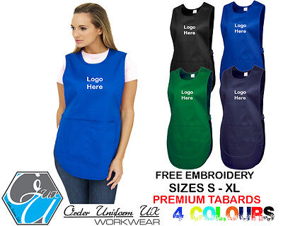 Personalised Embroidered Premium Tabard, Workwear, Uniform, Business, Cafe, Bar