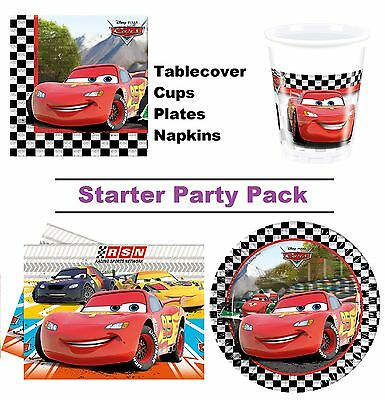 Disney Cars RSN Racing 8-48 Guest Starter Party Pack | Cups | Plates | Napkins