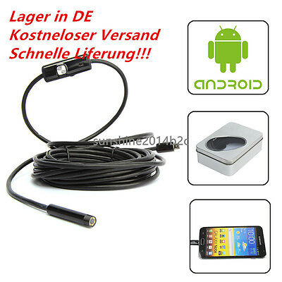 1/1,5/2/3,5M 720P 7mm 6 LED USB Wasserdicht Endoskop Inspektionskamera Android