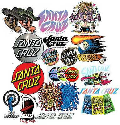 Santa Cruz Skateboards Stickers 5 Pack Assorted FREE POST Skate decal