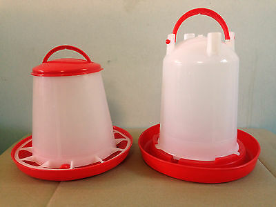 1 Kg Feeder & 1.5Ltr Economy Drinker Kit For Poultry Chick Chicken Quail