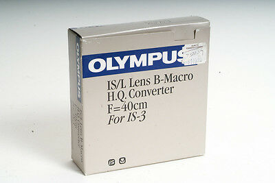 NEW Olympus IS/L Lens B-Macro H.Q.Converter F=40cm For IS-3 Camera