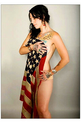 "American Pickers Danielle Colby Cushman 4x6"" Photograph #1 Photo US Flag"