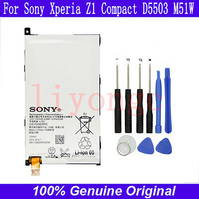 Genuine Battery For Sony Xperia Z1 Compact D5503 M51w  LIS1529ERPC +9 Open TOOLS