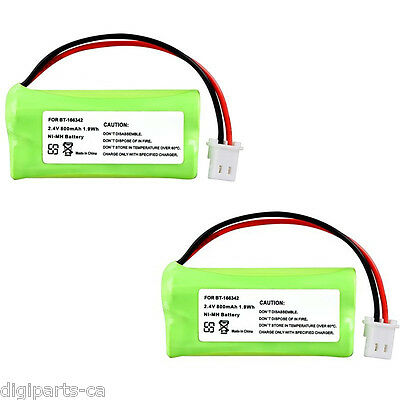 2x Cordless Phone Rechargeable Battery Compatible with VTech BT-166342