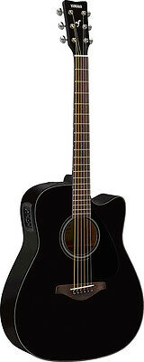 Yamaha FGX800C Acoustic Electric Guitar (Black)