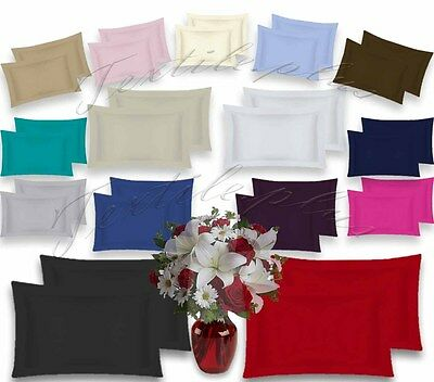 Oxford Pair Pillow Cases 100 % Percale 180 Thread Count Hotel Quality Brand New