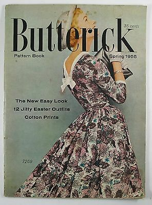 Vintage Spring 1955 Butterick Pattern Book Magazine - Fashion Sewing Sew Outfits