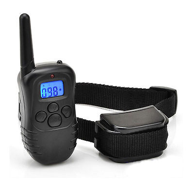 300 Yard Rechargeable LCD 100LV Level Electric Shock Remote Pet Dog Train Collar