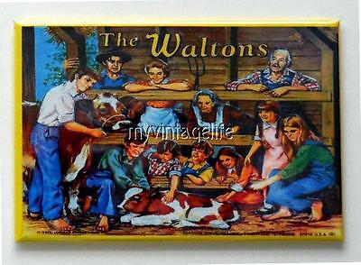 "THE WALTONS Metal LUNCHBOX   2"" x 3"" Fridge MAGNET ART"
