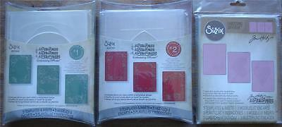 U Choose Sizzix Embossing Diffusers #1 Oval Circle #2 Arch Rect Square #3 Hearts
