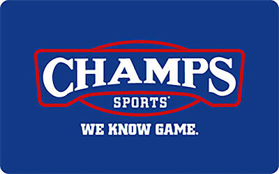 Champs Sports Gift Card - $25 or $50 - Email delivery