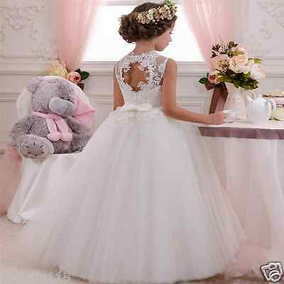 New Lace Baby Princess Bridesmaid Flower Girl Dresses Pageant Wedding Party Gown