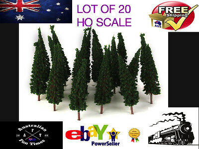 20 Model Layout Street Park Outdoor Trees Locomotive HO Tree Trains Craft New