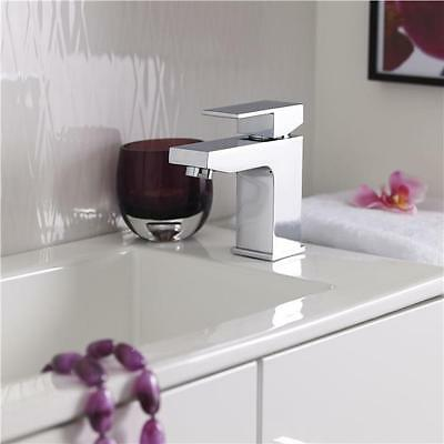 Prospa Mono Basin Mixer Solid Brass Tap with Free Push Button Waste - Chrome