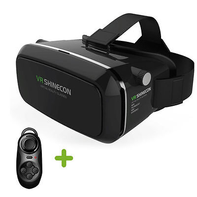 """3D Virtual Reality VR SHINECON Movie Game Glasses For 3.5"""" - 6"""" Phone+Controller"""