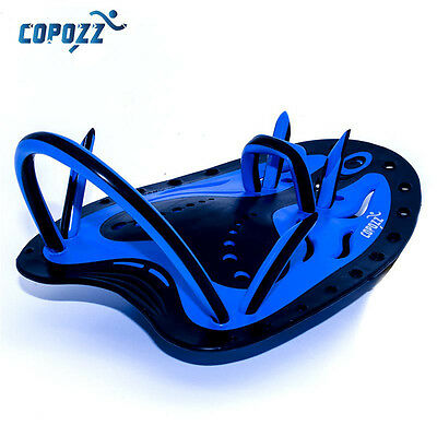 COPOZZ  Swimming Surf Hand Paddles Adjustable Silicone Gloves Training Kid Blue