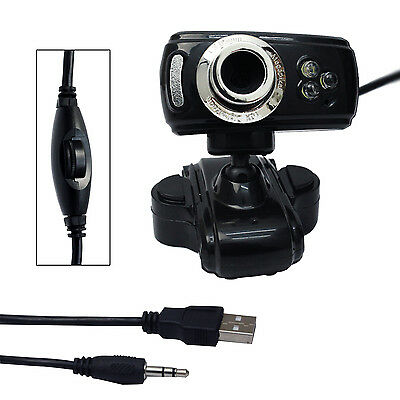 50.0M 3 LED USB Wired PC Camera HD Laptop Webcam Web Cam with MIC for Computer
