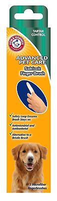 Arm and Hammer dog safelock finger tooth brush 2 pack