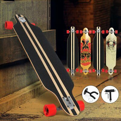 "41"" Longboard Skateboard DROP THROUGH ABEC 7 Komplettboard SET Streetsurfer"
