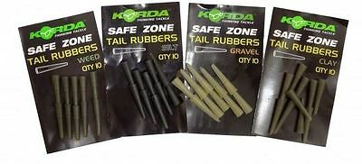 Korda Safe Zone Tail Rubbers To Fit Lead Clip All Colours 10 per pack