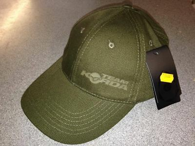 Team Korda Cap Carp Fishing TK Black Olive Canvas Peaked Hat / Baseball Cap