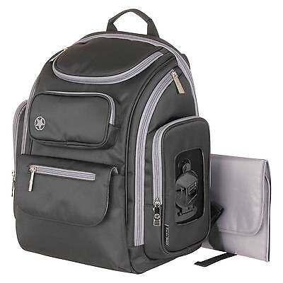 Jeep Organizer Easy Access Back Pack Diaper Bag - Black/Gray
