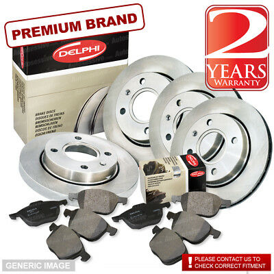 Citroen C8 2.2 Front & Rear Pads Discs 285mm Vented 272mm Solid 155BHP 07/02-On