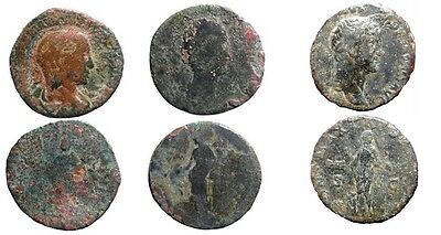*Lucernae* Very nice lot of 3 large roman imperial bronze coins.