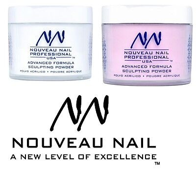 NOUVEAU NAIL ACRYLIC POWDER clear pink white 20g 2oz false nail art