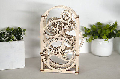 UGEAR Mechanical Puzzle TIMER, wooden construction kit moving model toy assembly