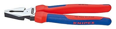 """Knipex 0202225 9"""" High Leverage Combination Pliers - Comfort Grip"""