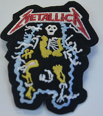 METALLICA SKELETON Embroidered Sew Iron On Cloth Patch Badge Jacket T-Shirt  MS1