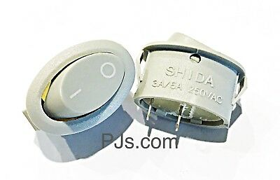250V 3A/6A 2 Terminal SPST ON/OFF Snap-in Rocker Switch x 2