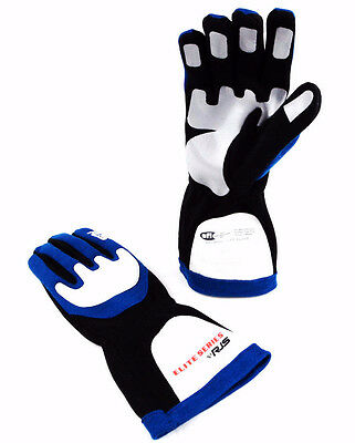 Rjs Racing Sfi 3.3/1 Elite Driving Racing Gloves Blue Size Large  600030125