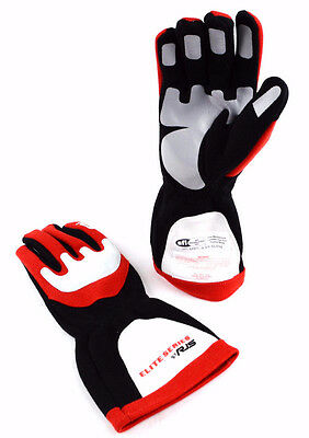 Rjs Racing Sfi 3.3/5 Elite Driving Racing Gloves Red Size X Large 600030131