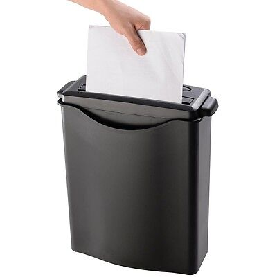 8 Sheet Strip-Cut Paper/Credit Card/Staples Shredder w/ Basket Home Office