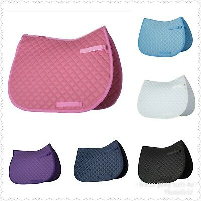 Quilted Saddle Pad cloth or Numnah pony/cob or full sizes 8 colours