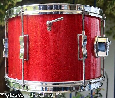 "** Luwig Tom 12"" x 8"" Red Sparkle - 1966 Vintage **"