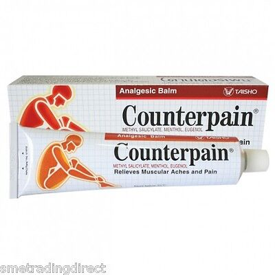 COUNTERPAIN HOT Balm - Muscular, Back Pain - Warm Muscle Rub 2 x 30g Tubes