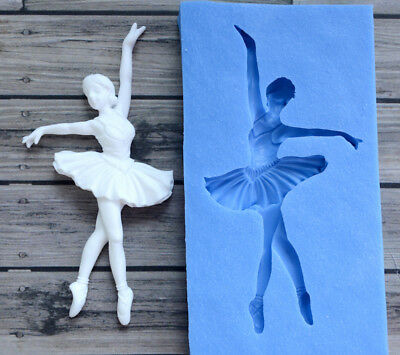 Best Quality Silicone Mold Ballerina Crafts Decorating Cake Candy ARTMD0063
