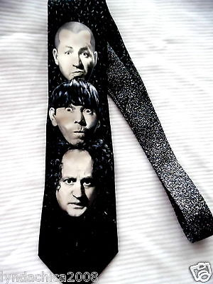 3 Stooges Collectible Necktie Larry Curly Moe By Ralph Marlin 1996