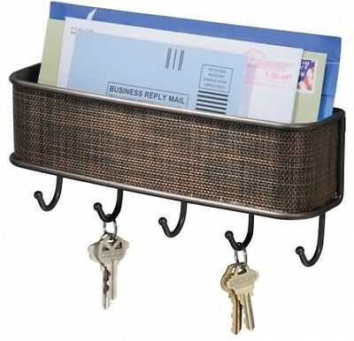 NEW InterDesign Home Mail, Letter Holder, Key Rack Organizer Wall Mount Storage