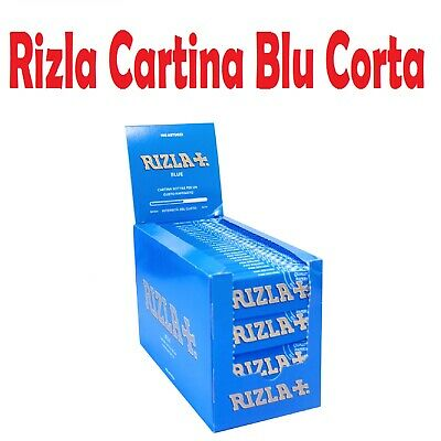 RIZLA CARTINA CORTA BLU.<br />BOX DA 100 BLOCCHETTI DA 50 CARTINE. 5000 CARTINE